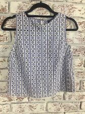 Top Shop Gingham Cotton Print Sleeveless Top. Size 10UK. Ex Cond