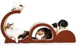 Siweite Cat Scratcher Lounge-Corrugated Cardboard Bed Sofa Scratching Pad 3 in 1