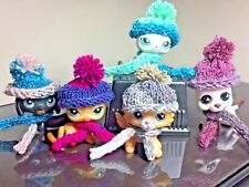 Littlest Pet Shop LPS 4 PC Lot Hat & Scarf Clothes ACCESSORIES Custom Made Cute