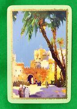 Playing Cards 1 Single Swap Card Old Vintage ENN English Named FEZ Arab Citadel