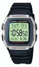 Casio Men's Quartz Watch with Grey Dial Digital Display and Black Resin Strap