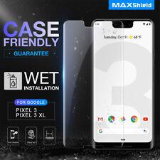 Google Pixel 3/ 3XL Screen Protector, Genuine MaxShield HD Aqua Crystal Shield