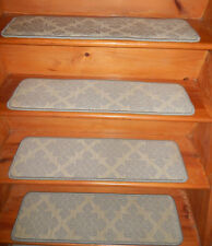 14 Step 9'' x 31''+ Runner 31'' x 96'' Tufted carpet Wool Woven Stair Treads .