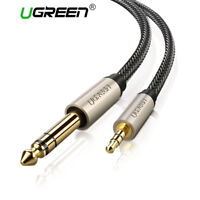 "Ugreen 6.35mm 1/4"" Male to 3.5mm 1/8"" TRS Stereo Audio Cable for iPod, Amplifier"