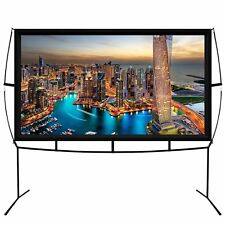 OPEN BOX-Portable indoor / outdoor theater projector screen with stand