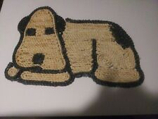 Woven Straw Cat And Dog Feeding Placemats Floormat