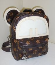 New listing Logo Designer & Disney Inspired Backpack Silver Mickey Mouse Charms Purse Bag