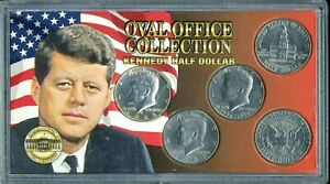 1968-1994 Oval Office Collection Kennedy Half-Dollar (5) Coin Set JE353