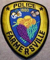 CA Farmersville California Police Patch