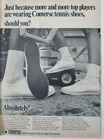 1968 women's men's Converse tennis shoes sneakers vintage fashion ad