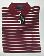 NWT MENS RALPH LAUREN S/S POLO SHIRT~WINE RED~SZ SM