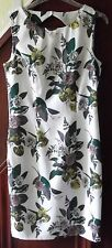 H&M dress, white flowered and beaded size 10 BNWT
