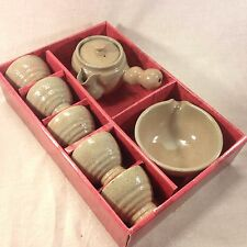 Korean Earth Tone Handmade Tea Set (7pc)
