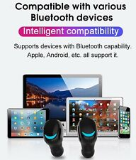 Bluetooth 5.0 Wireless Headphones Earbuds Waterproof Sports Apple Android