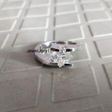 Engagement Ring 14K White Gold Finish 2.50Ct Near White Princess Cut Moissanite