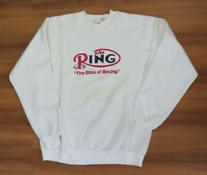 "RING ""The Bible of Boxing"" MAGAZINE  1990's SWEATER Size L SweatShirt LIGHT WEAR"