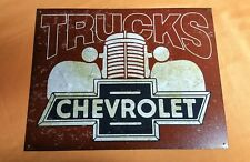 CHEVY TRUCKS SIGN  TRUCKS OF THE 40'S  MADE IN USA ! FREE US SHIPPING !  2046