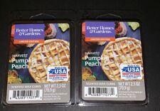 Better Homes & Gardens Scented Wax Cubes HARVEST PUMPKIN PEACH / 2 Packs