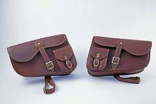 1200 Bobber Swing Arm Luggage Bags / Slash Cut Triumph Bobber - Genuine Leather