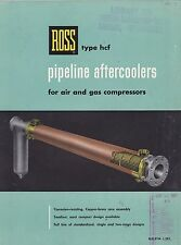 VINTAGE CATALOG #2814 - 1957 ROSS PIPELINE AFTERCOOLERS