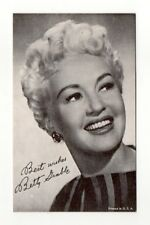 Betty Grable 1970's Actress Salutations Exhibit Arcade Card