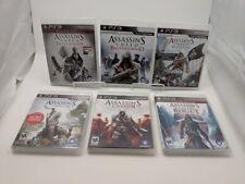 Lot 6 Assassins Creed PS3 Games ~ 2, 3, Black Flag, Rogue, Brotherhood, Etc!