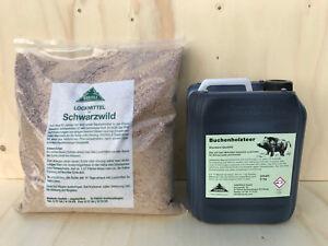 Buchenholzteer 5 kg Kanister & 3,5 kg Schwarzwild Lockmittel Kieferle Set 30.009