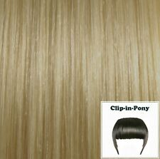 Clip-In-Pony champagnerblond #22, indisches Remy-Echthaar, Clip-Pony