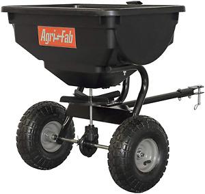 Tow Fertilizer Spreader Pull Behind Seeder Lawn Grass Seed Garden Yard Ice Melt