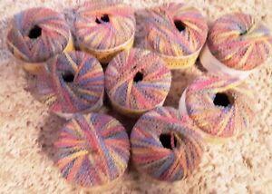 Lot of 9 Skeins of Karnak Specialty Yarn - Multi-Colored
