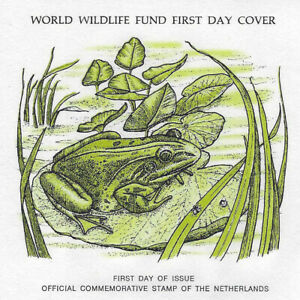 FDC 1976 WORLD WILDLIFE FUND COVER NETHERLANDS GREEN MARSH FROG Excellent
