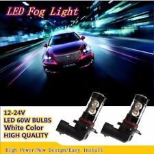 2x White H11 Car LED Fog Lights 1400LM 60W LED Error Free H8 H9 Driving Lamps US