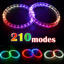 2PCS 80mm For BMW Audi Multi-Color 5050 RGB Flash SMD Led Angel Eyes Halo Ring