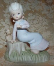 1982 Lefton Good Friends Figurine Christopher Collection Girl & Squirrel