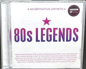 80s LEGENDS - VARIOUS ARTISTS, (HMV EXCLUSIVE), DOUBLE CD ALBUM, (2020) **NEW**