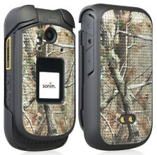 Outdoor Camo Tree Real Woods Protective Case Slim Cover for Sonim XP3 (XP3800)