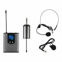 Wireless Headset Microphone System For iPhone DSLR Camera Vlog Lavalier Lapel