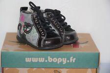 BOPY -  Zortance - Chaussures bébé Fille -  Cuir Noir -  T 16  neuf