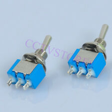 10pcs Mini Toggle Switch 3pin  DPST ON-OFF-ON Heavy Duty Guitar Tube Amp Power