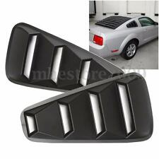 Pair 1/4 Quarter Side Window Louvers Scoop Cover Vent For 2005-2014 Ford Mustang