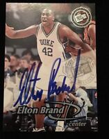 ELTON BRAND 1999 PRESS PASS Autographed Signed BASKETBALL Card