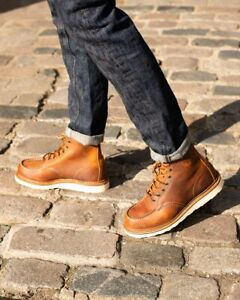 RED WING 1907 6-INCH CLASSIC MOC BOOT COPPER ROUGH AND TOUGH US MENS SIZES 1907