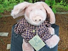 Vintage Rare Version Boyd's Bear Primrose Pig w/tag Plush Stuffed Doll