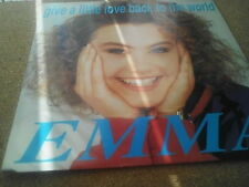 "EMMA - GIVE A LITTLE LOVE BACK TO THE WORLD 7"" Eurovision 1990.Free UK P/P"