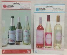 Martha Stewart Craft Beverage Bottle Labels DIY Gift NEW 12 labels Christmas