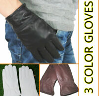 Men's(100% Real leather) Warm winter gloves/motorcycle gloves *Black/Brown/White