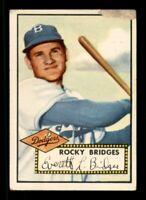 1952 Topps Set Break #239 Rocky Bridges LOW GRADE *OBGcards*