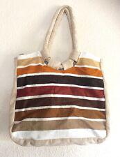 Vtg Carpet Bag 70s Colors Bohemian Dama Sports Wear Western Boho Chic Festival