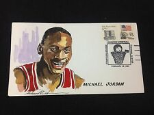 Michael Jordan 1990  Hand Painted Wild Horse Cachet #3340
