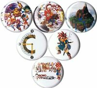 set of 6 Chrono Trigger pins buttons badges snes crono jrpg zeal